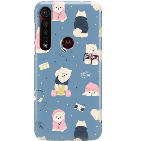ETUI CLEAR NA TELEFON MOTOROLA MOTO G8 PLUS CUTE DOGS 1