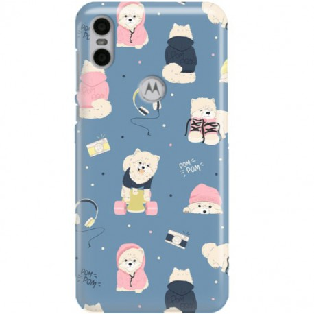 ETUI CLEAR NA TELEFON MOTOROLA MOTO ONE CUTE DOGS 1