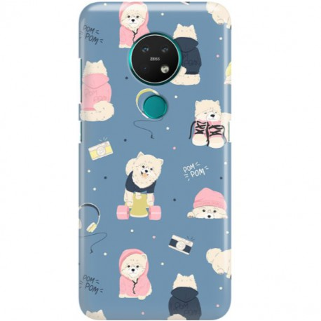 ETUI CLEAR NA TELEFON NOKIA 6.2 / 7.2 CUTE DOGS 1