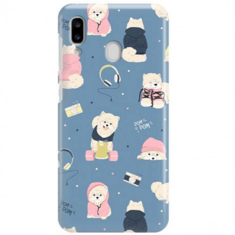 ETUI CLEAR NA TELEFON SAMSUNG GALAXY A20 CUTE DOGS 1