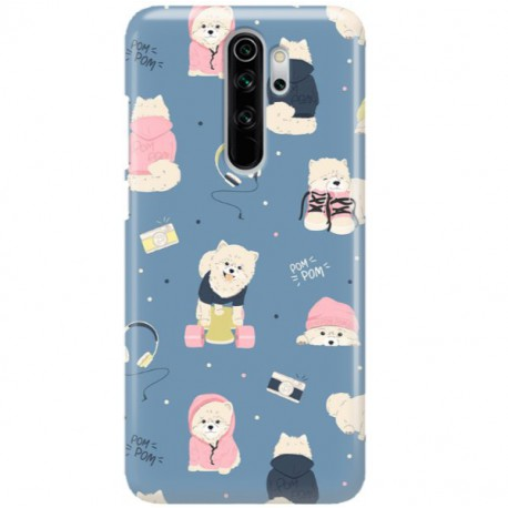 ETUI CLEAR NA TELEFON XIAOMI REDMI NOTE 8 PRO CUTE DOGS 1