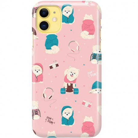 ETUI CLEAR NA TELEFON APPLE IPHONE 11 CUTE DOGS 2