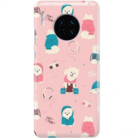 ETUI CLEAR NA TELEFON HUAWEI MATE 30 CUTE DOGS 2