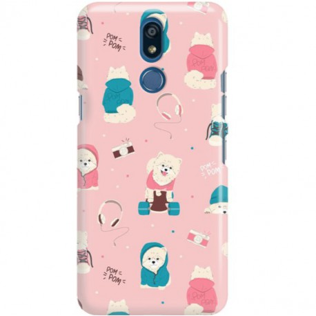 ETUI CLEAR NA TELEFON LG K40 CUTE DOGS 2