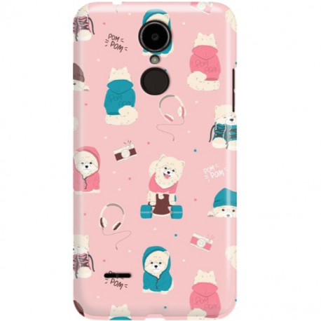 ETUI CLEAR NA TELEFON LG K8 2017 CUTE DOGS 2