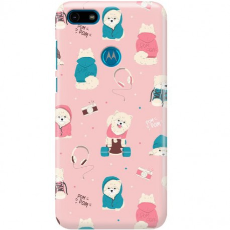 ETUI CLEAR NA TELEFON MOTOROLA MOTO E6 PLAY CUTE DOGS 2