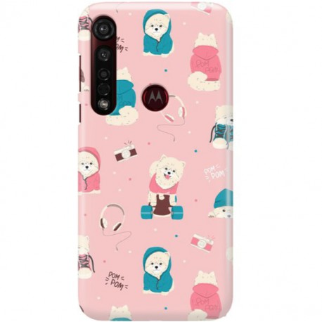 ETUI CLEAR NA TELEFON MOTOROLA MOTO G8 PLUS CUTE DOGS 2