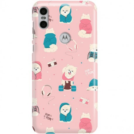 ETUI CLEAR NA TELEFON MOTOROLA MOTO ONE CUTE DOGS 2