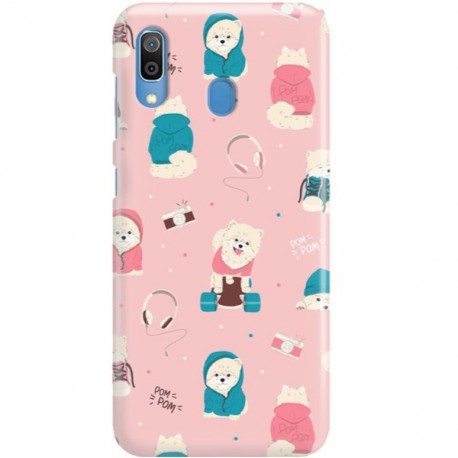 ETUI CLEAR NA TELEFON SAMSUNG GALAXY A30 CUTE DOGS 2