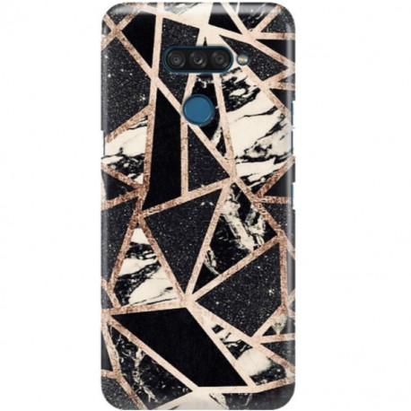 ETUI CLEAR NA TELEFON LG K50S CZARNY MARMUR