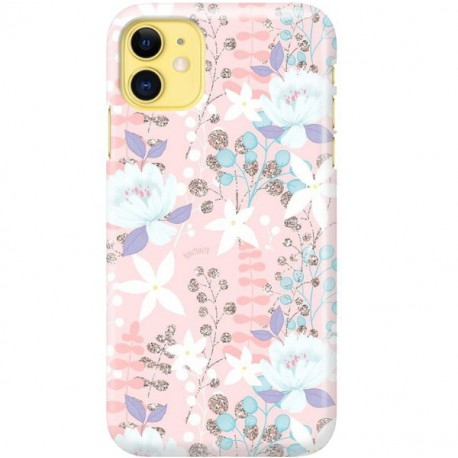 ETUI CLEAR NA TELEFON APPLE IPHONE 11 FLOWERS