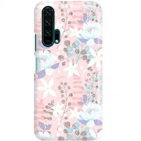 ETUI CLEAR NA TELEFON HUAWEI HONOR 20 PRO FLOWERS