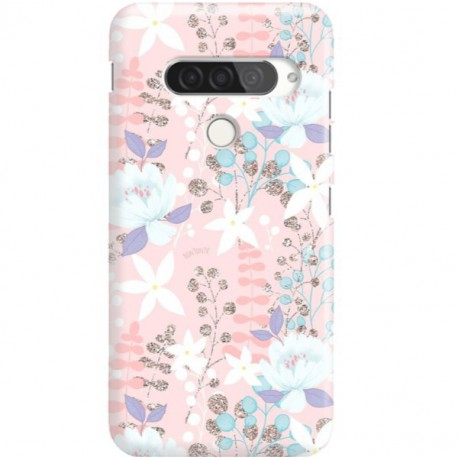 ETUI CLEAR NA TELEFON LG G8S / G8S THINQ FLOWERS