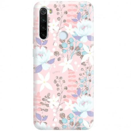 ETUI CLEAR NA TELEFON XIAOMI REDMI NOTE 8T FLOWERS