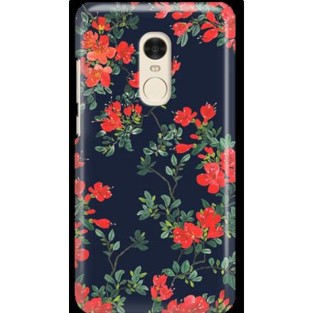 Etui na telefon Xiaomi Redmi Note 4X Czerwone Kwiaty