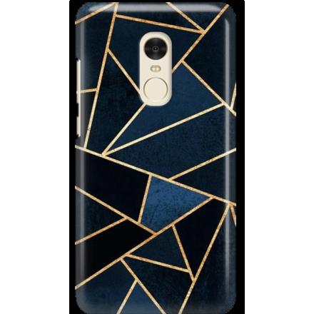 Etui na telefon Xiaomi Redmi Note 4X Geometyczne Indygo