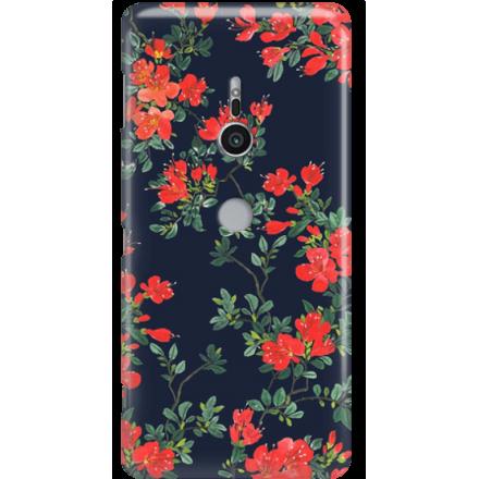 Etui na telefon Sony Xperia XZ2 Czerwone Kwiaty