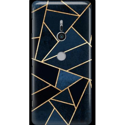 Etui na telefon Sony Xperia XZ2 Geometyczne Indygo