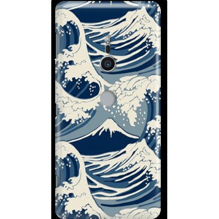 Etui na telefon Sony Xperia XZ2 Japonskie Fale