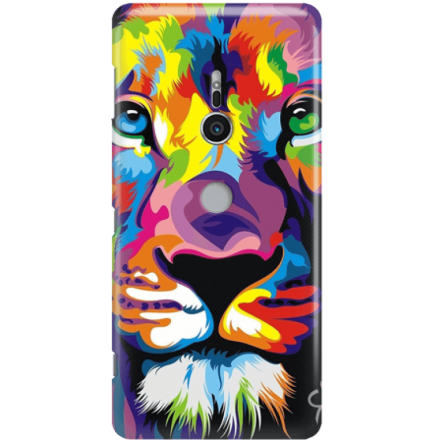 Etui na telefon Sony Xperia XZ2 Kolorowy Lew