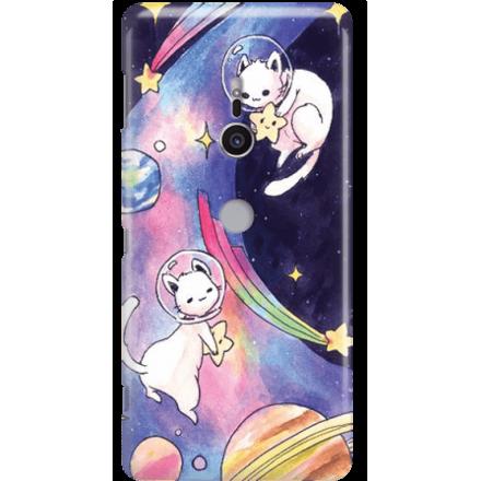 Etui na telefon Sony Xperia XZ2 Kosmiczne Koty