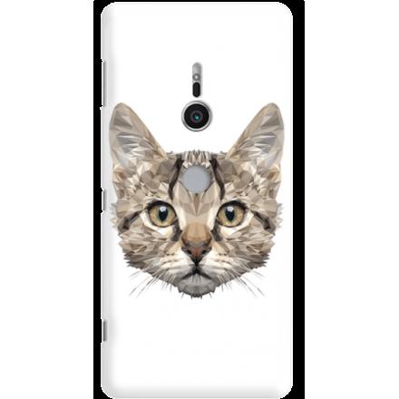Etui na telefon Sony Xperia XZ2 Kot Geometryczny