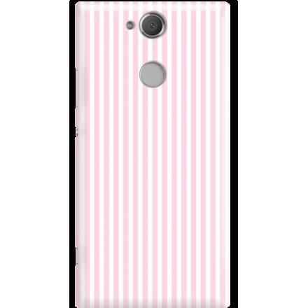 Etui na telefon Sony Xperia XA2 Candy Różowe Paski