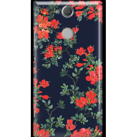 Etui na telefon Sony Xperia XA2 Czerwone Kwiaty