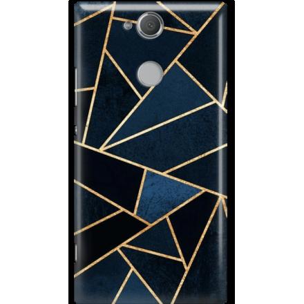 Etui na telefon Sony Xperia XA2 Geometyczne Indygo