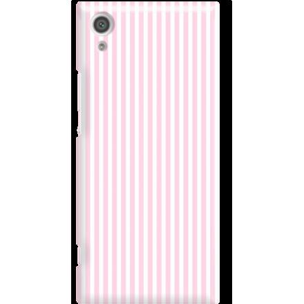 Etui na telefon Sony Xperia XA1 Candy Różowe Paski