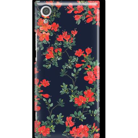 Etui na telefon Sony Xperia XA1 Czerwone Kwiaty