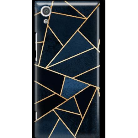 Etui na telefon Sony Xperia XA1 Geometyczne Indygo