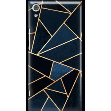 Etui na telefon Sony Xperia XA1 Ultra Geometyczne Indygo