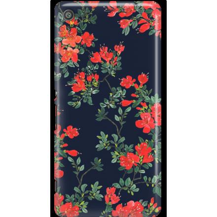 Etui na telefon Sony Xperia XA Czerwone Kwiaty