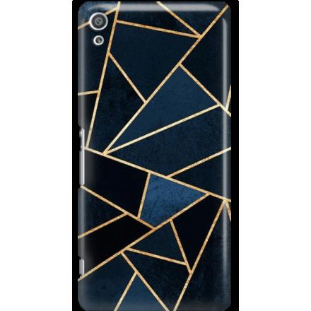 Etui na telefon Sony Xperia XA Ultra Geometyczne Indygo