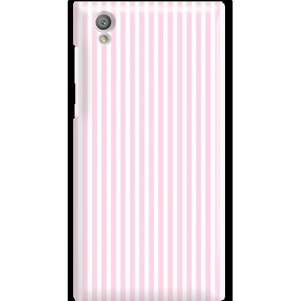 Etui na telefon Sony Xperia L1 Candy Różowe Paski