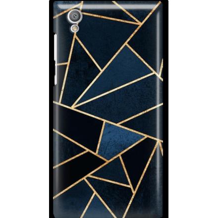 Etui na telefon Sony Xperia L1 Geometyczne Indygo