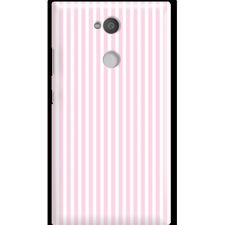 Etui na telefon Sony Xperia L2 Candy Różowe Paski
