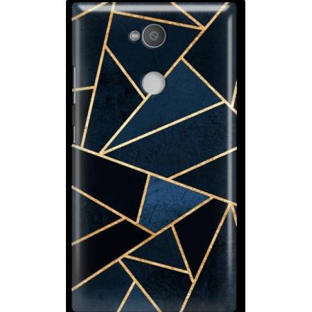 Etui na telefon Sony Xperia L2 Geometyczne Indygo