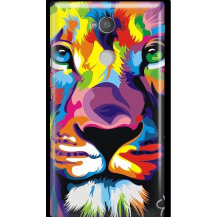 Etui na telefon Sony Xperia L2 Kolorowy Lew