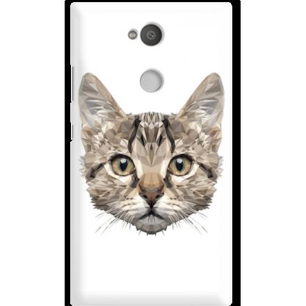 Etui na telefon Sony Xperia L2 Kot Geometryczny