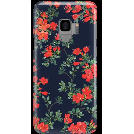 Etui na telefon Samsung Galaxy S9 Czerwone Kwiaty