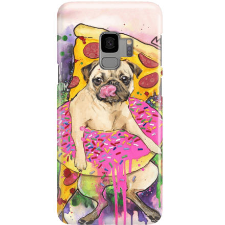 Etui na telefon Samsung Galaxy S9 Głodny Mops