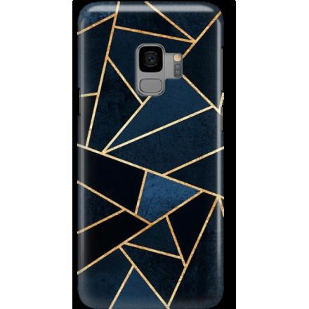 Etui na telefon Samsung Galaxy S9 Geometyczne Indygo