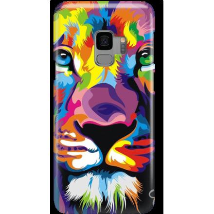 Etui na telefon Samsung Galaxy S9 Kolorowy Lew