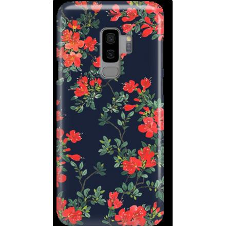 Etui na telefon Samsung Galaxy S9 Plus Czerwone Kwiaty