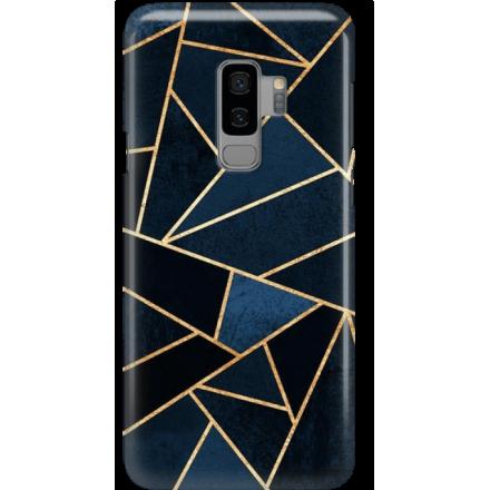 Etui na telefon Samsung Galaxy S9 Plus Geometyczne Indygo