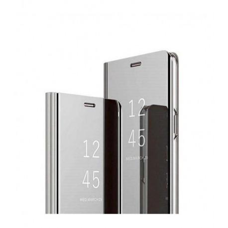 ETUI BOOK CLEAR VIEW NA TELEFON LG K41S / K51S SREBRNY
