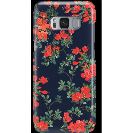 Etui na telefon Samsung Galaxy S8 Czerwone Kwiaty