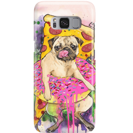 Etui na telefon Samsung Galaxy S8 Głodny Mops